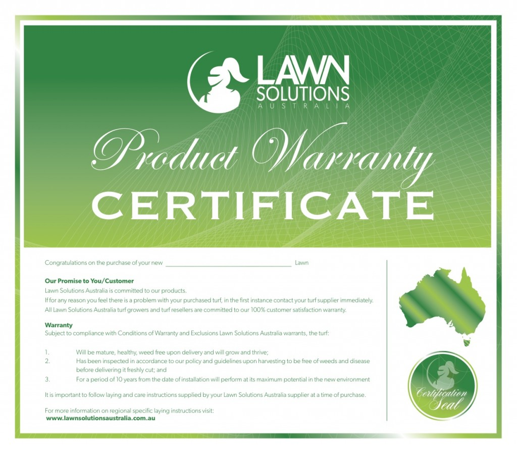 Lawn Solutions Aus. - Product Warranty